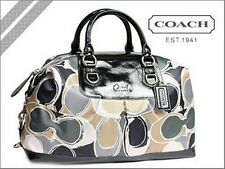 Coach Ashley 17656 Hand Drawn Scarf Print 2 Way Large Satchel Tote Stunning~