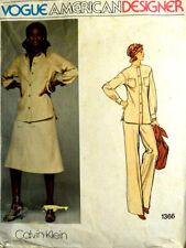 Vtg 70s Vogue American Designer Calvin Klein 1366 Jacket Pants Shirt Skirt B32.5