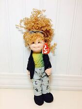 "TY Teenie Beanie Bopper Girl 8"" Plush Doll Paula Plapperstache NWT"