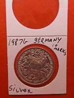 Germany 1987G Silver 10 Marks coin 1957-1987 bu 091819