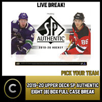 2019-20 UPPER DECK SP AUTHENTIC 8 BOX (FULL CASE) BREAK #H805 - PICK YOUR TEAM