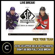 2019-20 UPPER DECK SP аутентичная 8 коробка (полный чехол) перерыв #H1051 — выбирайте свою команду