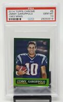 2014 Topps Chrome 1963 Mini JIMMY GAROPPOLO Rookie Football Card PSA 10 GEM MINT
