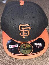 NEW ERA SAN FRANCISCO GIANTS Fitted Hat Cap BLACK & ORANGE - Size 7 1/8 59FIFTY