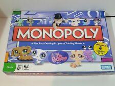 Hasbro Littlest Pet Shop Monopoly Board Game Complete With 4 Unique Pets