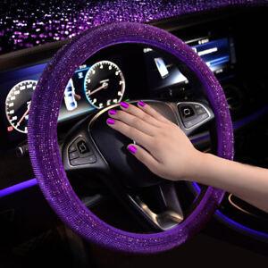 Car Steering Wheel Cover Anti-slip Universal 15 Inch Steering Cover Purple