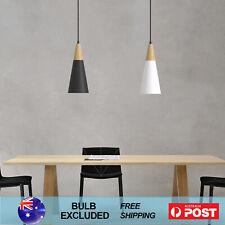 Modern Kitchen Pendant Light Wooden Chandelier Nordic Bar Lamp Black White