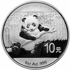 2014 Silver Chinese Panda 1oz .999 Silver Bullion Coin - China 10 Yuan