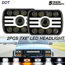 Pair 7x6'' LED Headlight Hi-Lo Beam For Jeep Cherokee XJ YJ 79-01 Wrangler 87-95