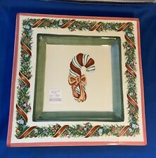 New Listingchristopher Radko christopher's tree square serving tray 11�