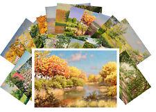 24 Postkarten Set * Retro Country Garden Landscapes by Johan Krouthen CD3005