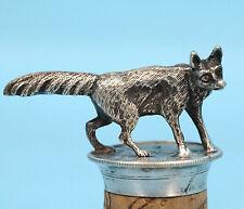 Antique Art Nouveau Silver? Bottle Stopper Sly Fox Germany c1900