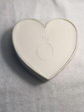 Pandora White Heart Jewelry Box Black Lining