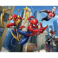MARVEL SPIDERMAN WALL MURAL KIDS BOYS FEATURE WALL DECOR 2.44m x 3.05m