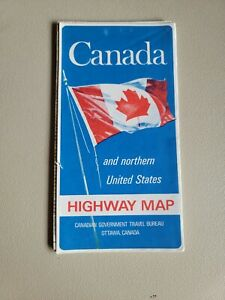Canada and Northern United States Foldable Road Map