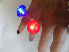 FUN LED FLASHING FINGER RING ADJUSTABLE SIZE- 5 DIFFERENT COLOURS AUSSIE SELLER
