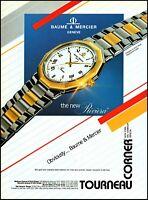 1988 Baume & Mercier Swiss luxury watch Riviera vintage photo print ad ads18