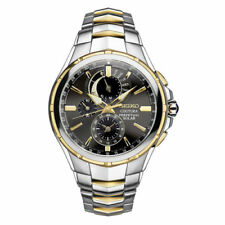 Seiko Coutura Solar Perpetual Chronograph Two Tone Mens Watch SSC376