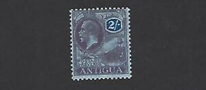 ANTIGUA 1921 GEORGE V, 2/- PURPLE & BLUE DEFINITIVE STAMP, SG. 58, MH