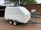 grp twin axle unbraked box trailer