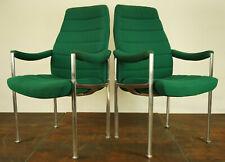 70er Vintage Chaise Aluminium Fauteuil Lounge à Accoudoir Space Âge Panton Eames