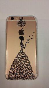 Coque gel souple incassable motif fantaisie pour iPhone 6  (Robe noire)