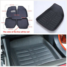 5 Pcs/Set Leather Car Truck 5-Seat Floor Mats Floorliner Carpet Feet Pad Cushion