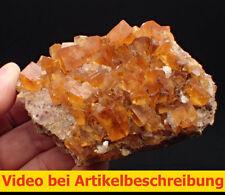 7726 Fluorit Honigspat  ca 7*10*5 cm Marienschacht Wölsendorf 1983 MOVIE