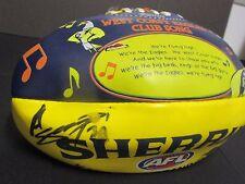 West Coast Eagles - Ashley Sampi signed Eagles mini sherrin football