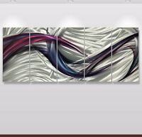 Metal Abstract painting Modern Art Original Large Contemporary horizontal wide