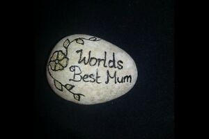 Memorial Personalised Pebbles/stones Any Message Of Your Choice Mum,dad,names