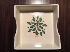 Lenox Holiday Square Dish Holly & Berries