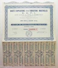 Action ancienne : SAFI application et de fabrications industrielles ( 655 )