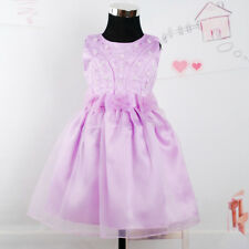 New Flower Girl Party Bridesmaid Wedding Pagent Dress in 4 Colours From 18M- 6 Y