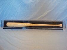 Baseball Bat Display Case HORIZONTAL black acrylic back. Fits left or right bat