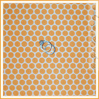 BonEful Fabric FQ Cotton Quilt Orange White Polka Dot Baby Boy Halloween Stripe