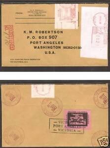 British Columbia 1982 Registered Juan de Fuca Local Post Cover