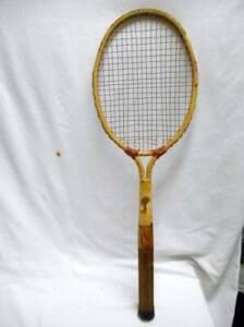 """Antique METAL tennis racquet DAYTON CADET TENNIS RACKET 4 5/8"""" Medium wLABELS"""