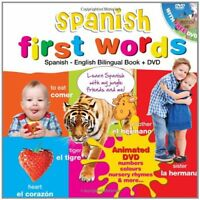 Spanish for Kids First Words Spanish-English Bilingual Book  DVD Kids Learn L