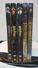 """5) DVD MOVIE LOT """"FANTASY"""" / LORD OF THE RINGS / HARRY POTTER"""