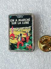 Pin's Pins Tintin et Milou bd Hergé comic strip on a marché sur la lune