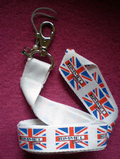 Lanyard from Rimmel London with Union Jack (Flag) in White/Colourful/NEW