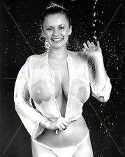 1990-1999 JOANNE LATHAM b/w glamour portrait photo (Celebrities)