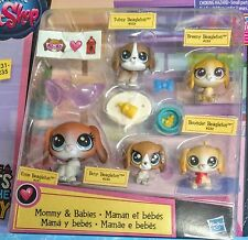 5 Dogs Littlest Pet Shop Mommy and Babies Beagleton 231-235  Accessories New LPS