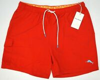NWT $85 Tommy Bahama Ribbon Red Swim Trunks Mens L Naples Coast Board Shorts NEW