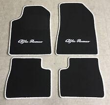 Autoteppich Fußmatten für Alfa Romeo Giulietta schwarz/weiss 4teilig Neuware