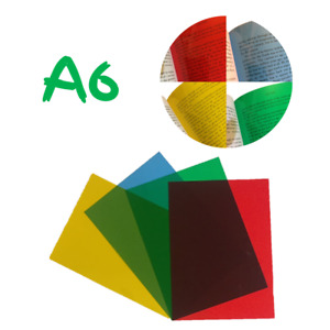 Colour Overlay For Dyslexia A6 Assorted Pack - Overlays For Visual Stress Relief