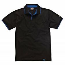 DICKIES ANVIL POLO SHIRT T-SHIRT BLACK BLUE OR GREY WORK WARE 100%25 COTTON