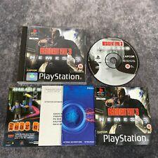Resident Evil 3 Nemesis PS1 PlayStation 1 PAL Game Complete Capcom Horror
