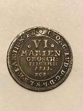 Rare 1711 HCB Mariengroschein Coin